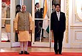PM Narendra Modi and PM Shinzo Abe during the official welcome ceremony at the Akasaka Palace in Tokyo.jpg