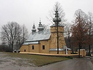Binczarowa Village in Lesser Poland Voivodeship, Poland