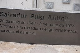 PP del Monumento en la Plaza Salvador Puig Antich de Barcelona