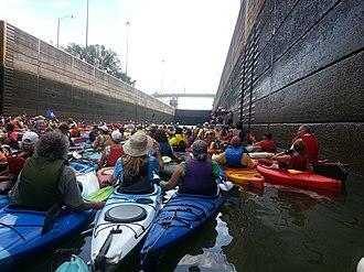 McAlpine Locks and Dam - Paddling through McAlpine