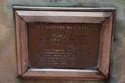 Photo of Thomas Paine bronze plaque