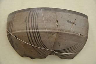 Vedic period - Pottery of the Painted Grey Ware culture (c. 1000-600 BCE), associated with Vedic material culture