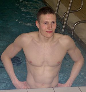 2009 FINA Swimming World Cup - Pál Joensen, winner of the men's 1500 m freestyle in Moscow.