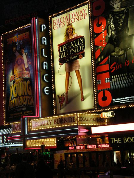see: a play on Broadway (New York)