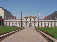 Palacio de La Moneda en Santiago, sede del Poder Ejecutivo