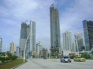 Panama City, Panama construction projects on Avenida Balboa