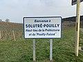 Panneau Bienvenue Solutré Pouilly Chemin Roche - Solutré-Pouilly (FR71) - 2021-03-02 - 1.jpg
