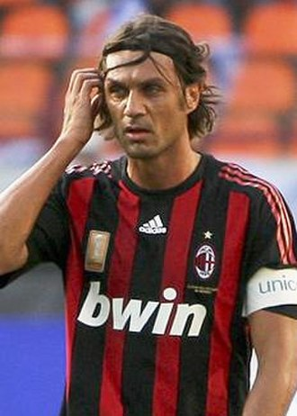 2005 UEFA Champions League Final - Milan captain Paolo Maldini scored in the first minute of the match
