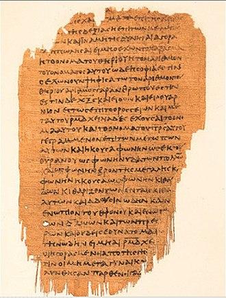 Revelation 17 - Image: Papyrus 47 Rev 13,16 14.4