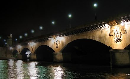 The Pont d'Iena in Paris was built to commemorate the Battle of Jena. Paris pont iena.jpg