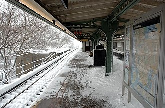 Weather-related cancellation - Passenger trains may face a diminished ability to operate in severe snow, like the New York City Subway during the 2006 North American blizzard (pictured).