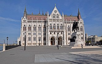 Kossuth tér - Parliament building seen from the south end of the square