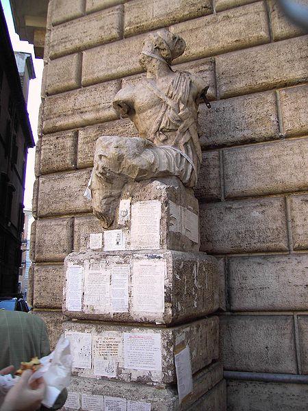 la statua di Pasquino a Roma dans immagini di Roma