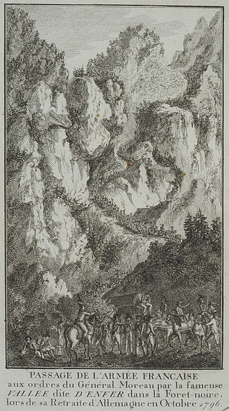 Battle of Emmendingen - Moreau's troops withdraw through the Val d'Enfer (Valley of Hell)