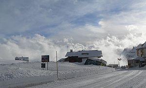 Pordoi Pass - Pordoi Pass in February.
