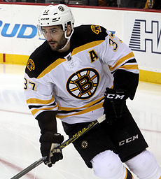 Patrice Bergeron - the cool, charming,  ice hockey player  with Canadian roots in 2019