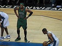 Paul Pierce in a game against the Washington Wizards