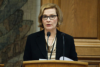 Speaker of the Parliament of Finland - Image: Paula Risikko vid Nordiska Radets session 2011 i Kopenhamn