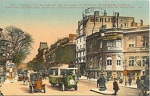 Palais Berlitz - Le Pavillon de Hanovre on the boulevard des Italiens