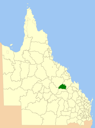 Shire of Peak Downs - Location within Queensland
