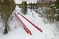 Pedestrian bridge at Matarinpuisto, Vantaa, Finland, 2021 February.jpg