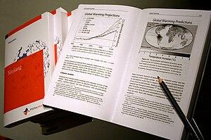 A printed book ordered through PediaPress.com