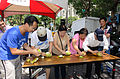 Pelling off Pomelos Race in Mid-Autumn Festival of Futai Village, Songshan District, Taipei 20150919.jpg