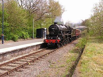 Pen-y-Bont railway station - Image: Pen y Bont railway station 1
