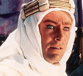 Peter O'Toole in Lawrence of Arabia (1962)