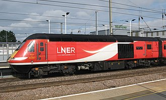 London North Eastern Railway - Image: Peterborough LNER 43367 rear of up train