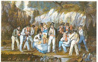 Xaver Hohenleiter - Schwaaz Vere and his robber band by Johann Baptist Pflug