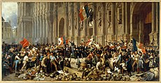 Philippoteaux - Lamartine in front of the Town Hall of Paris rejects the red flag.jpg
