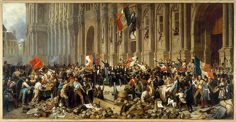 Датотека:Philippoteaux - Lamartine in front of the Town Hall of Paris rejects the red flag.jpg