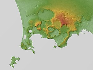 Phlegraean Fields - Relief map