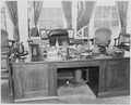 Photograph of President Truman's desk in the Oval Office of the White House. - NARA - 199473.tif
