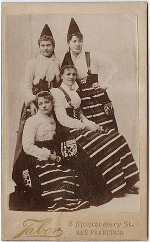 "I. W. Taber - ""Women in ethnic dress"""