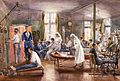 Physical therapy at Bath War Hospital. Watercolour by E. Wellcome V0017313.jpg