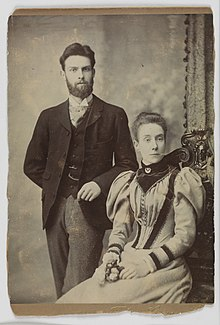 Picture believed to be Edward Turner (1873-1903) and Edith Turner (1867-1962), c.1896 (7995978496).jpg
