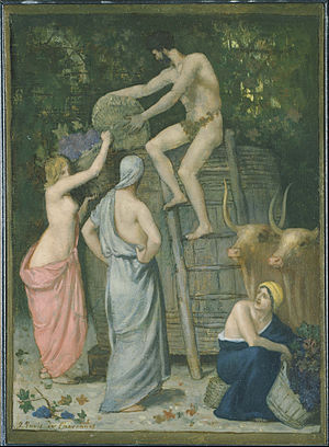 Pierre Puvis de Chavannes - The Wine Press , 1865, The Phillips Collection