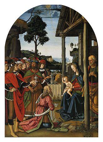 Adoration of the Magi (Perugino, Perugia) - Image: Pietro Perugino cat 06