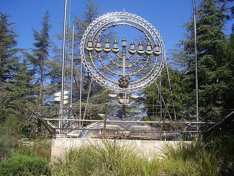 פסל חנוכיה בהר הרצל