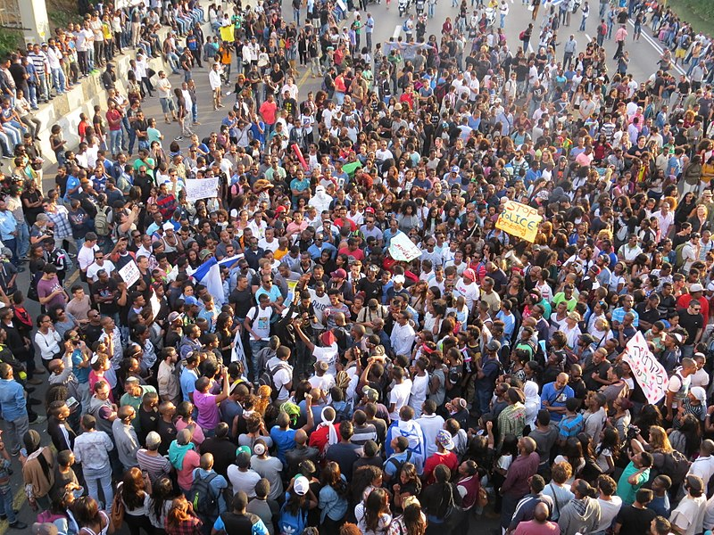 הפגנת בני העדה האתיופית בשנת 2015