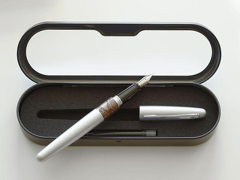 File:Pilot Metropolitan silver with python design.jpg