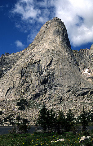Cirque of the Towers - Pingora Peak is a popular climb for mountaineers who visit the cirque