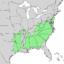 Pinus echinata range map.png