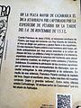 Plafó turístic de la Plaza de Armas de Cajamarca amb explicació sobre la captura d'Atahualpa02.jpg
