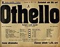 Plakat za predstavo Othello v Narodnem gledališču v Maribor 8. februarja 1940.jpg