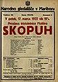 Plakat za predstavo Skopuh v Narodnem gledališču v Mariboru 17. marca 1922.jpg