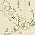 Plan présentant le naufrage d'un navire de Cavelier de La Salle en 1686.jpg