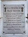 Plaque Mémoire Henri Mestre Cimetière Nogent Marne Perreux Marne 1.jpg